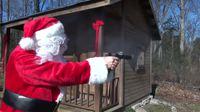 Le père Noël joue Jingle Bells