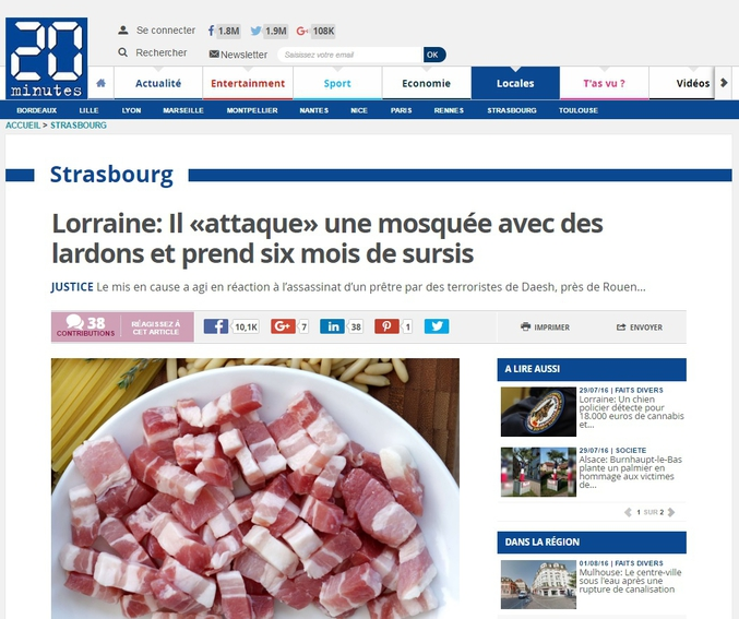 Ha ben non  http://www.20minutes.fr/strasbourg/1903175-20160801-lorraine-attaque-mosquee-lardons-prend-six-mois-sursis