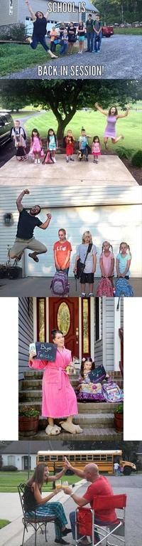 Youpi! Les petits monstres vont bientôt retourner à l'école!