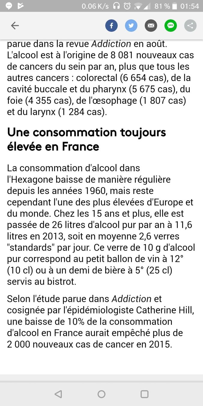 chez France info y'en a qui mettent 10g d'alcool pure dans un verre de boisson alcoolisée classique ( c'est un imp ecran car j'ose espérer qu'il vont corriger leur connerie)