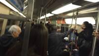 Dans le métro de New-York