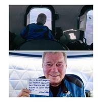 Le capitaine Kirk est allé dans l'espace cet après midi