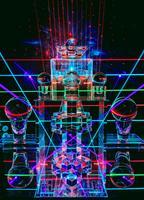 Réflexion de laser