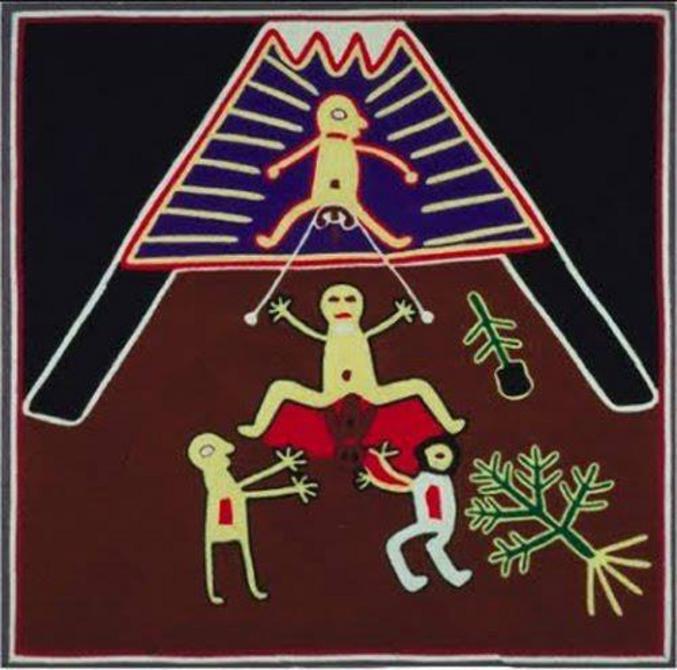 PENDANT L'ACCOUCHEMENT, AU MEXIQUE AVEC LA TRIBU HUICHOL, ON LIAIT LES TESTICULES DE L'HOMME À UNE CORDE   Les membres de la tribu Huichol au Mexique considèrent que l'accouchement est un moment de grande douleur et de plaisir qui doit être partagé par les hommes et les femmes.  Au moment de l'accouchement, le père est placé au dessus de sa femme. On lie ses testicules à une corde dont les deux extrémités restent dans les mains de la mère. Cette dernière peut tirer sur la corde pendant ses contractions pour partager sa douleur avec le père.  Quand  l'enfant est né, le père et la mère, ayant partagé une douleur très forte, ressentent désormais la joie d'accueillir leur bébé.  PS: Elle peut tirer sur les cordes mais c'est pas non plus une obligation n'est ce pas Pepette?