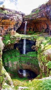 Le gouffre Baatara à Tannourine (Liban)