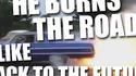 Il enflame la route !