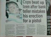 Des flics tabassent un ado après qu'un employé de banque...