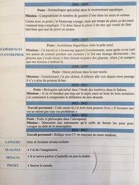 Un CV unique
