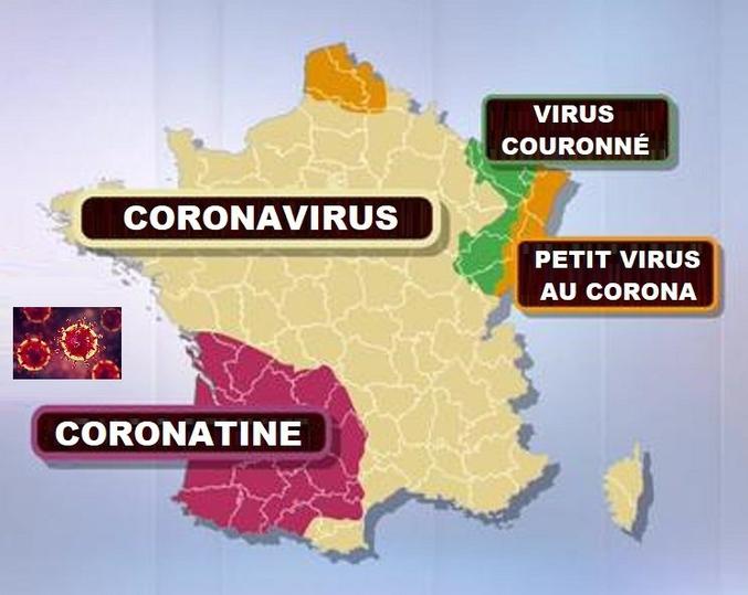 Le nom de la maladie suivant les régions.