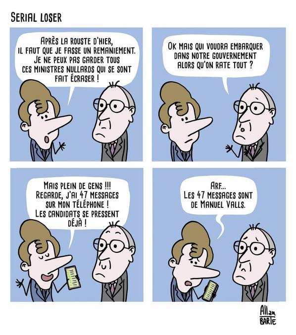 Les élections départementales et régionales, qui ont eu lieu ces deux derniers week-ends en France, ont vu un taux d'abstention record. Un dessin d'Allan Barte.