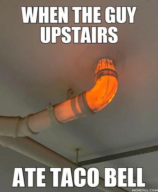 Quand le mec du dessus mange du Taco Bell