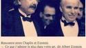 Anecdote Chaplin-Einstein