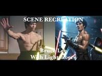 Bruce Lee au sabre laser