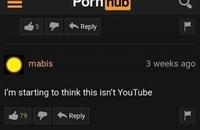 Je commence à penser que je ne suis pas sur Youtube