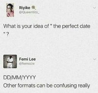 The perfect date
