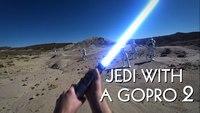Combat d'un Jedi avec une Gopro