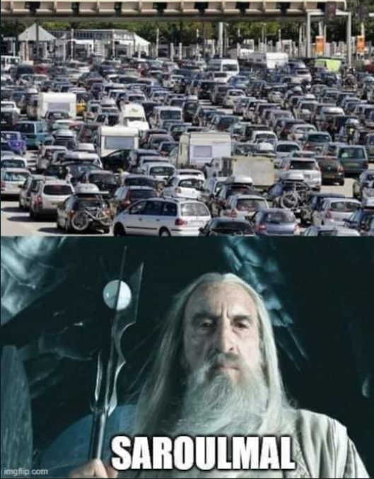 Gandalf doit être de l'autre côté du péage j'imagine.