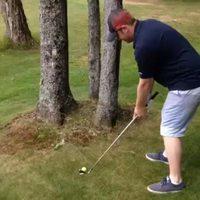 Coup délicat au golf