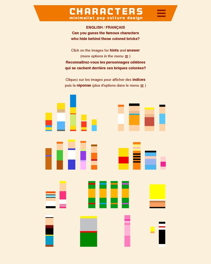 Création de mon frangin. En 2014, Il a découvert the LEGO Ad campaign: Imagine produced by the Jung Von Matt agency (2012). Puis il a crée son site, qu'il alimente de temps en temps. Un jeu de plage fun avec des niveaux de difficultés différent ;) Bon courage, il y en a des corsés...