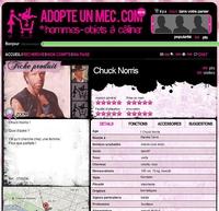 Chuck Norris est sur Adopteunmec.com