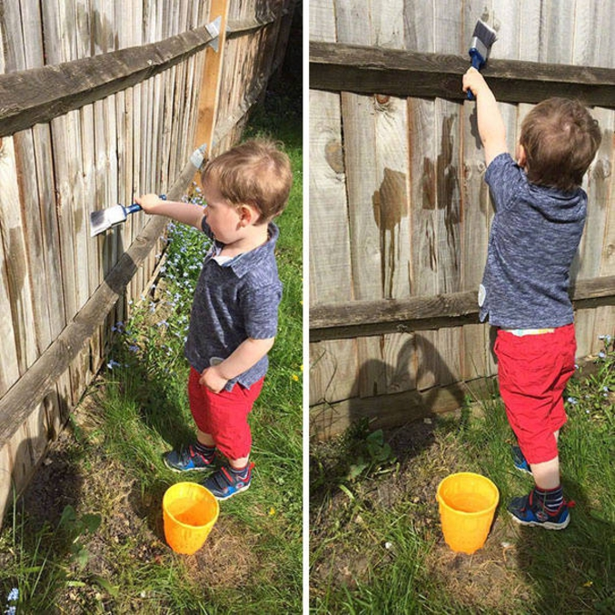 Faites leur repeindre votre barrière avec de l'eau !