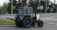 Tracteur de la police