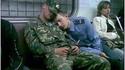 Militaires dans le métro de Moscou