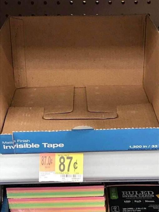 Scotch invisible.