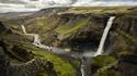 La cascade d'Háifoss, en Islande