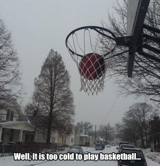 ...même pour jouer au basket !