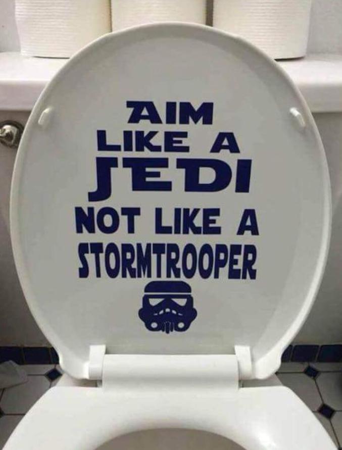"""""""Visez comme un Jedi, pas comme un Stormtrooper."""""""
