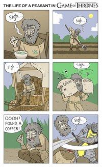 La vie d'un paysan dans game of thrones - no spoil