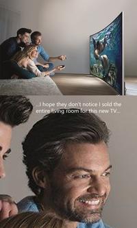 Trop bien, une nouvelle télé !