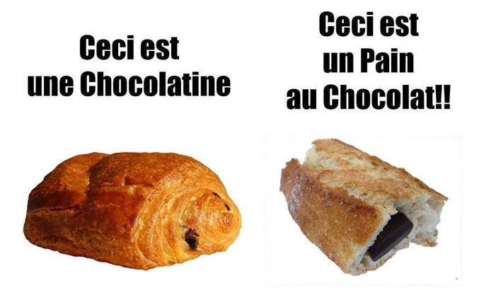 C'est clair non ? A l'origine, c'était chocolatine, le terme chocolatine est plus pertinent du point de vue culinaire, plus logique et en plus, pain au chocolat pour une viennoiserie, ça n'a aucun sens.  Donc oui, oui amis nordistes, vous êtes majoritaires et tout ça, presque partout en France on dit pain au chocolat, et on apprend même ça dans les écoles de pâtisserie. Oui, les sudistes sont presque seuls dans leur combat pour la chocolatine, mais historiquement, logiquement, culinairement parlant, ils ont raison. Et puis, Galilée aussi était seul quand il disait que la Terre tournait autour du soleil. ( http://couteaux-et-tirebouchons.com/chocolatine-ou-pain-au-chocolat-la-vraie-reponse/ )  Bisous !