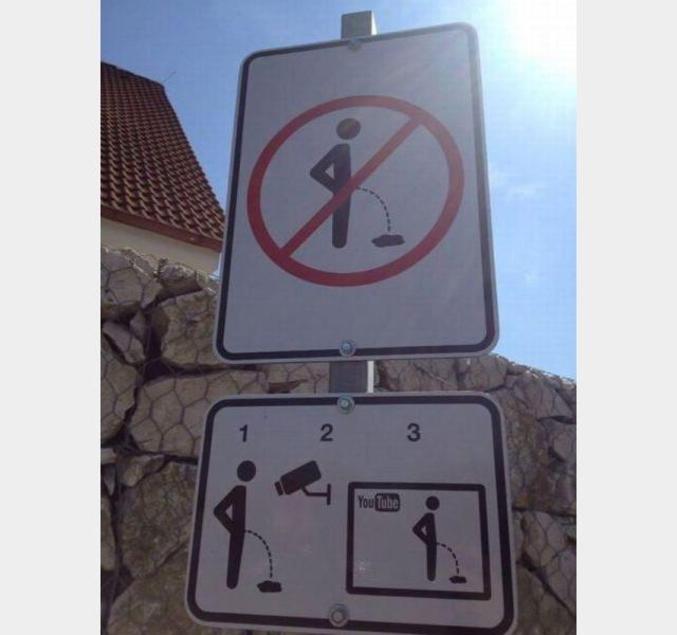 Attention, ne fais pas pipi ici, tu risques de te faire pincer très fort.