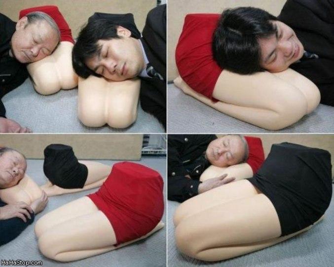Qu'il est bon de dormir sur les genoux de l'être aimé
