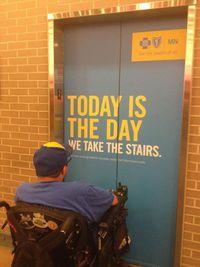 Aujourd'hui, on prend l'escalier !