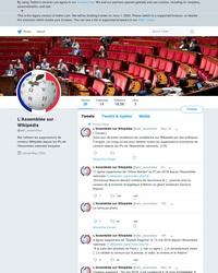 Compte Twitter pour repérer les modifications d'articles Wikipédia depuis l'Assemblée Nationale