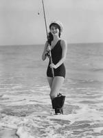 Ava Gardner à la pêche, 1942