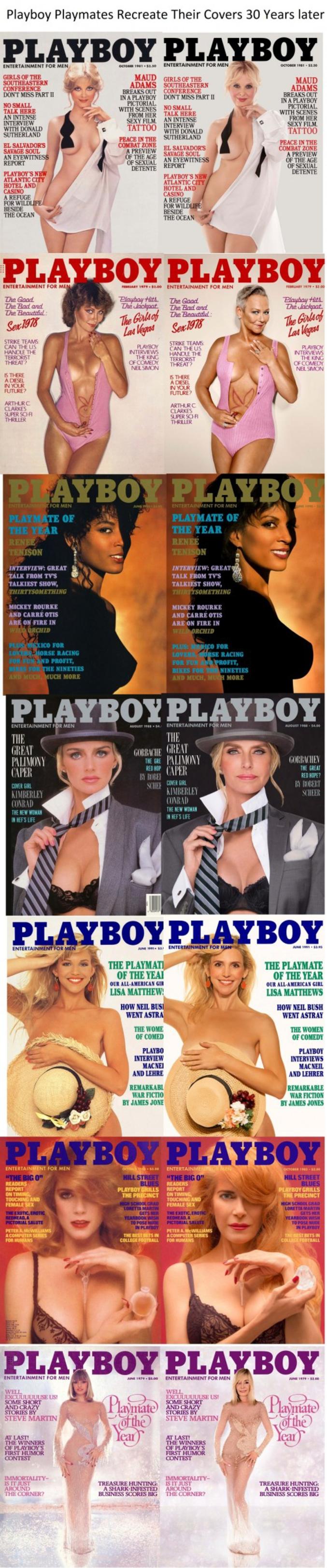Les playmates refont la couverture d'un célèbre magazine.