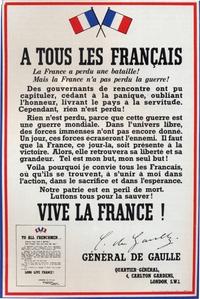 L'appel du 18 juin 1940 (il y a 80 ans pile)