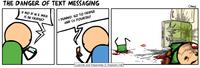 Les dangers du SMS