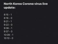 Coronavirus en direct de la Corée du Nord