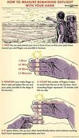 comment mesurer la lumière du jour restante avec votre main.