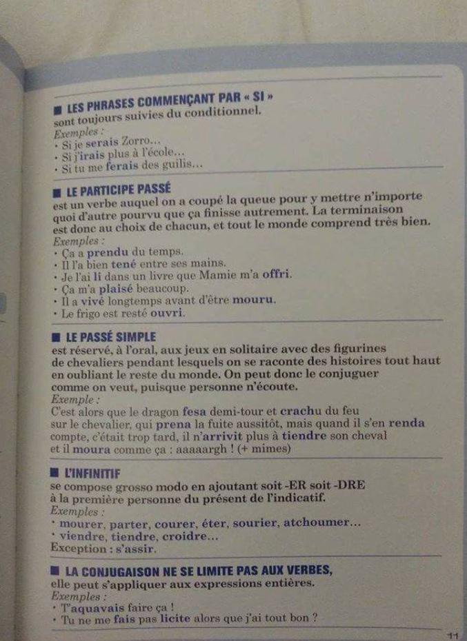 Un page de manuel.