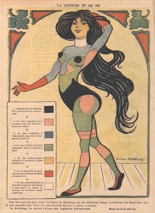 Le boulot a déjà été fait, autant s'en servir. Par Lucien Métives dans Le Rire en 1901.