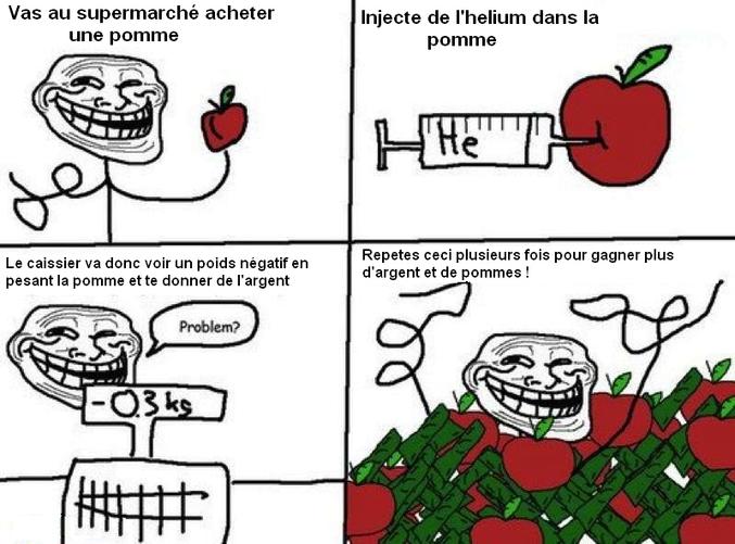 Devenir riche grâce aux pommes.
