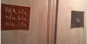 Portes des toilettes