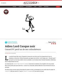 Adieu Lord Casque noir