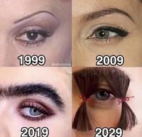 L'évolution sourcilière